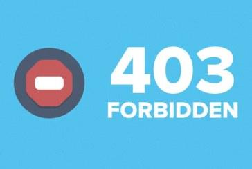 خطای ۴۰۳ وردپرس