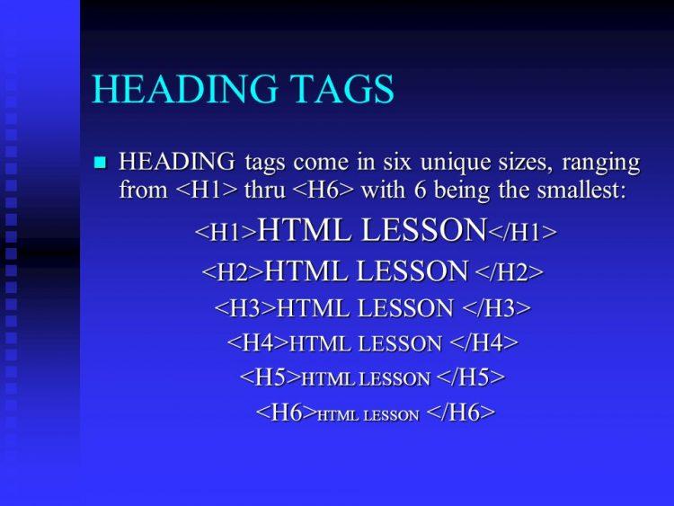 عنوان های HTML