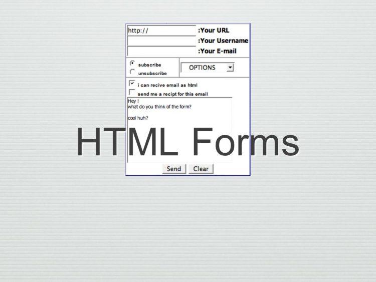 فرم های html
