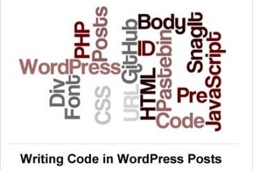 نوشتن کد در پست ها