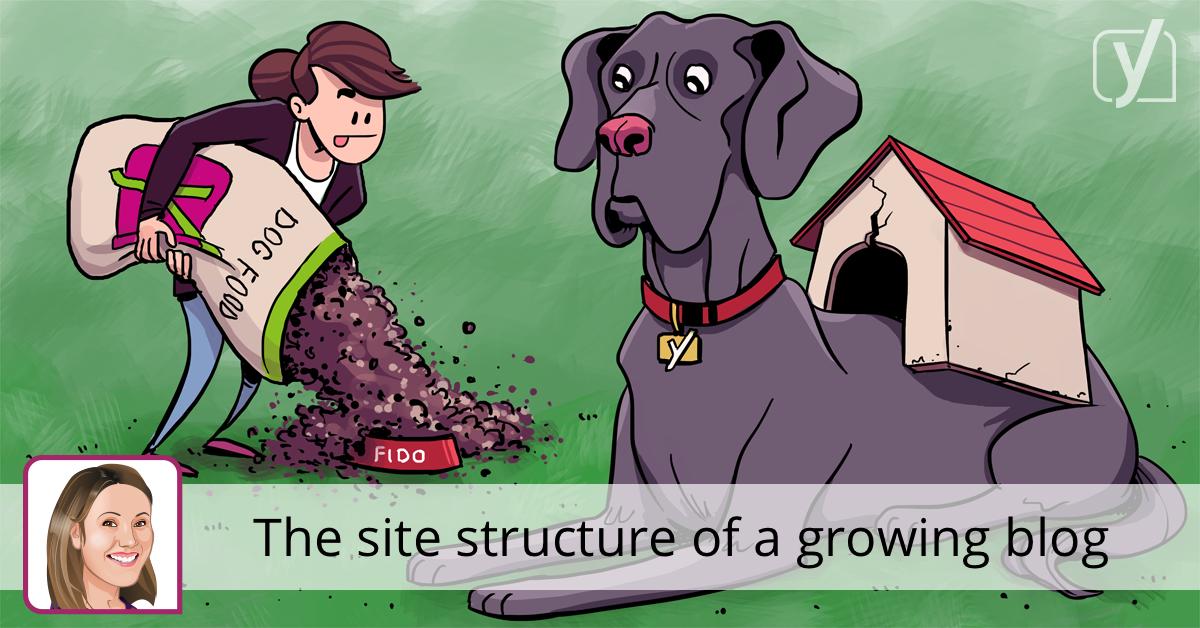 ساختار سایت وبلاگ در حال رشد