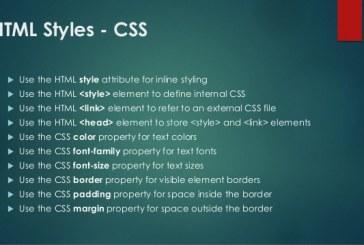 HTML Styles