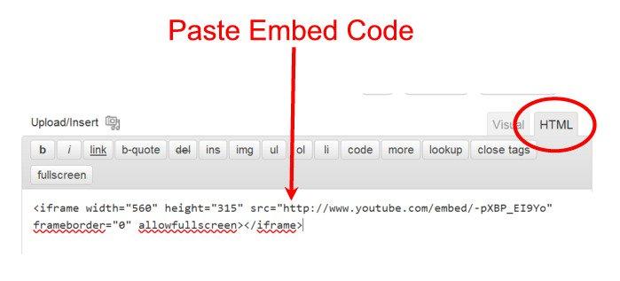 ویدئوهای یوتیوپ html