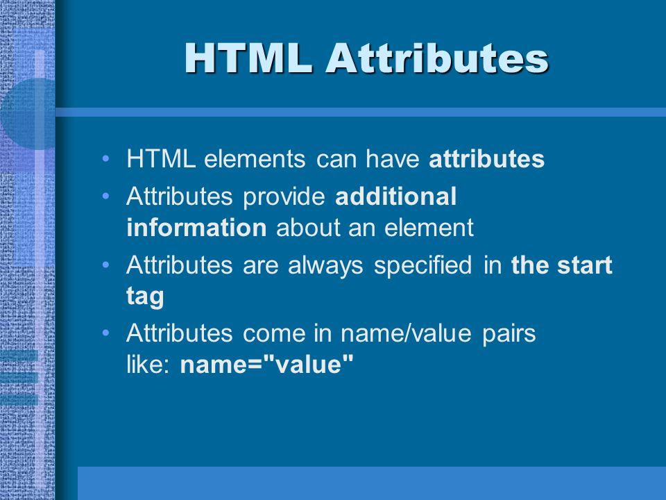 صفات html